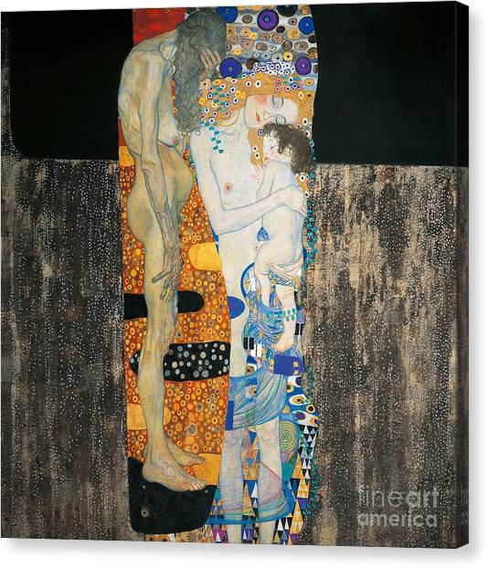 Imaginative Canvas Print - The Three Ages Of Woman by Gustav Klimt