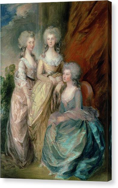 Augusta Canvas Print - The Three Eldest Daughters Of George by Thomas Gainsborough
