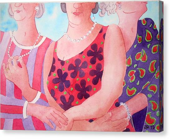The Three Gracies Canvas Print by Julie  Hutchinson