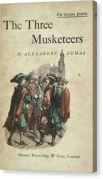 English And Literature Canvas Print - The Three Musketeers by British Library