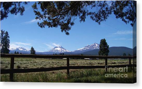 The Three Sisters Panorama Canvas Print