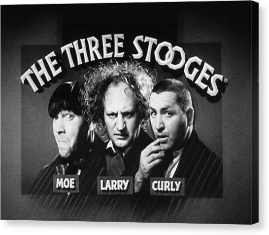 Singing Canvas Print - The Three Stooges Opening Credits by Official Three Stooges