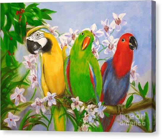 The Three Tenors Canvas Print by Stella Violano