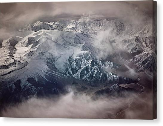 Himalayas Canvas Print - The Tibetan Plateau by Martin Van Hoecke