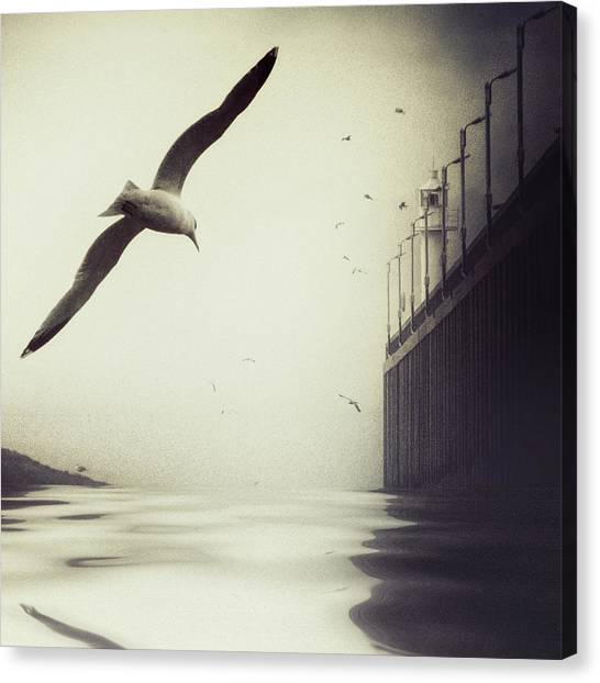 Pier Canvas Print - The Tide by Piet Flour