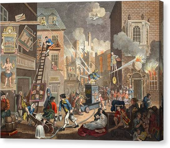 Street Fighter Canvas Print - The Times, Plate I, Illustration by William Hogarth