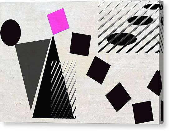 Frank Stella Canvas Print - The Tipping Point by Linda Dunn