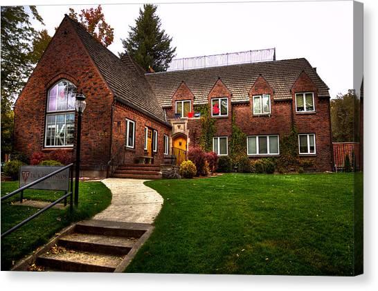 Washington State University Canvas Print - The Tke House On The Wsu Campus by David Patterson