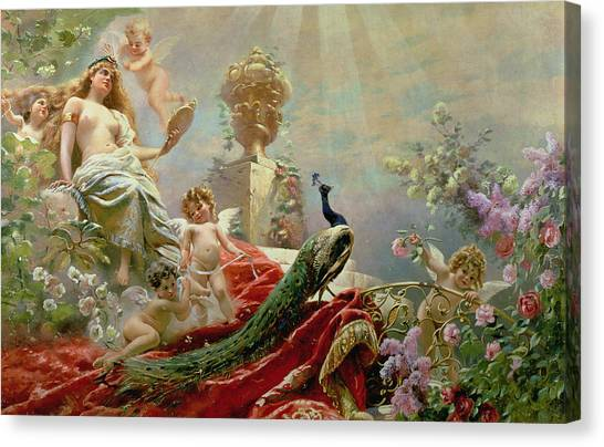 Venus Canvas Print - The Toilet Of Venus by KE Makovsky