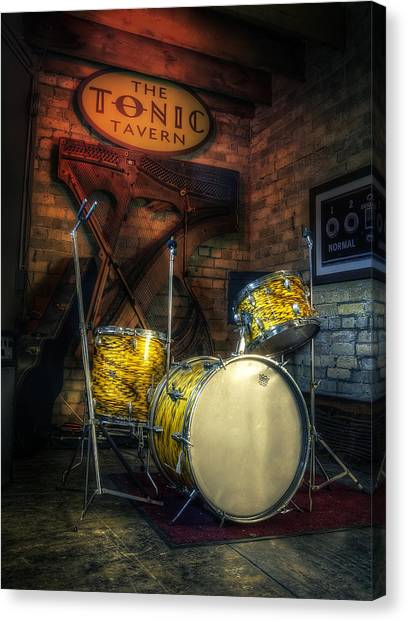 Music Stands Canvas Print - The Tonic Tavern by Scott Norris