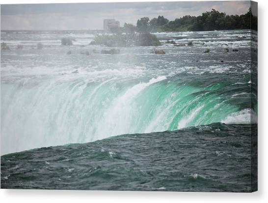 Horseshoe Falls Canvas Print - The Top Of Horseshoe Falls, The Largest by Christopher Kimmel