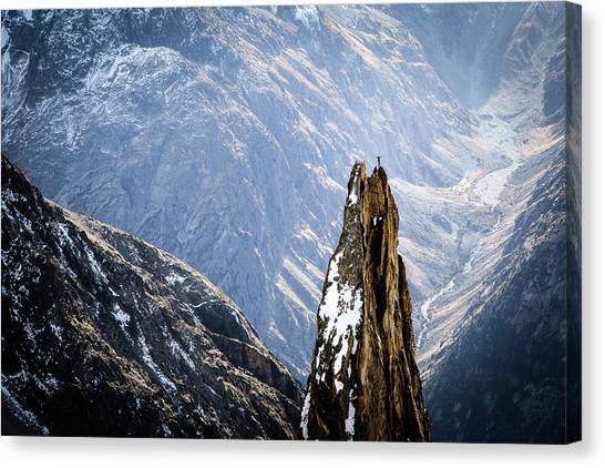 Cliffs Canvas Print - The Top by Thomas Vuillaume