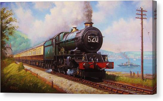 Steam Trains Canvas Print - The Torbay Express. by Mike Jeffries