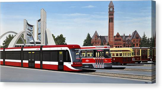 The Toronto Streetcar 100 Years Canvas Print