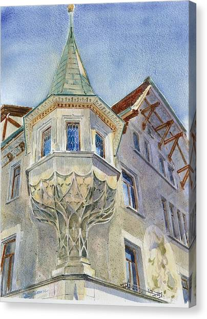 The Tower At Conditorei Central Canvas Print