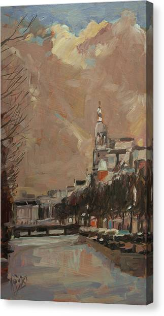 Briex Canvas Print - The Tower Of Metz And Co Amsterdam by Nop Briex