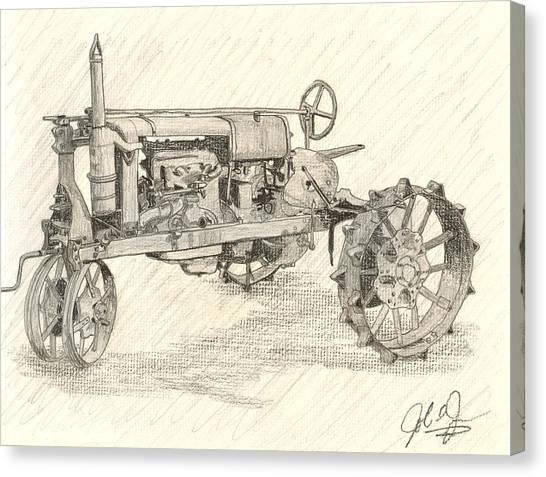 The Tractor Canvas Print by John Jones