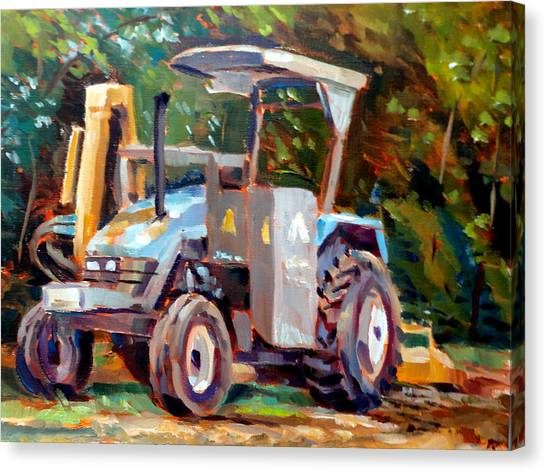 The Tractor Canvas Print by Mark Hartung