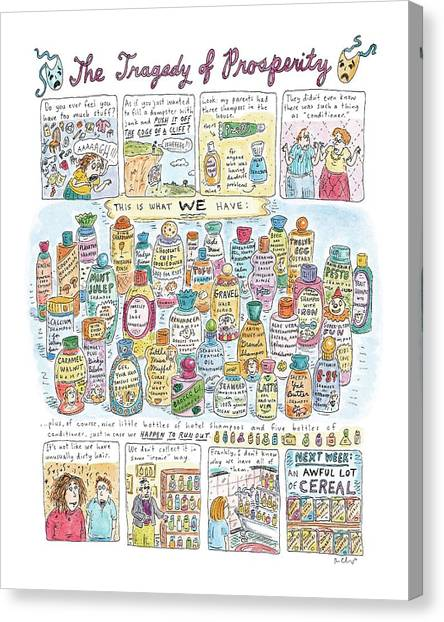 Broccoli Canvas Print - 'the Tragedy Of Prosperity' by Roz Chast