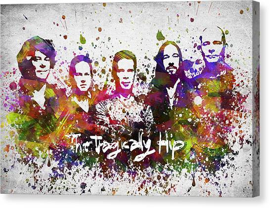Rhythm Canvas Print - The Tragically Hip In Color by Aged Pixel