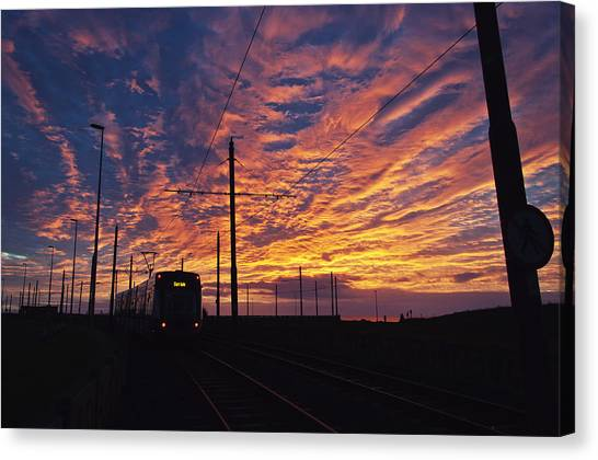 The Tram To Star Gate Canvas Print
