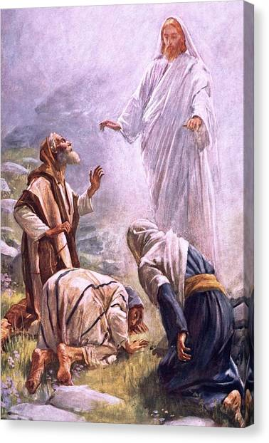 Messiah Canvas Print - The Transfiguration by Harold Copping