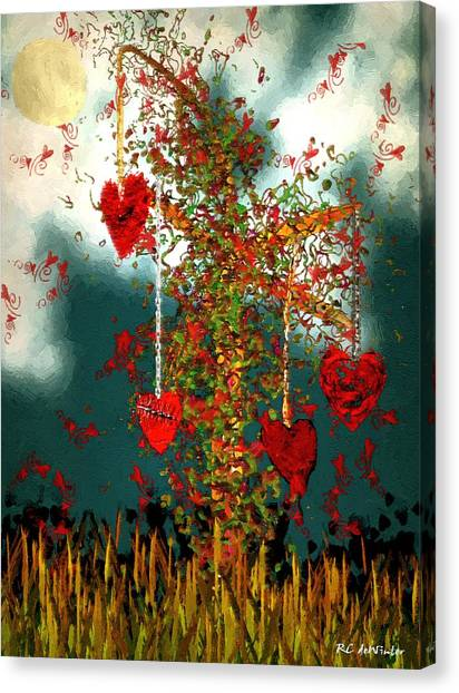 The Tree Of Hearts Canvas Print