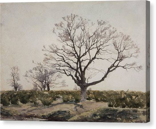 Post-impressionism Canvas Print - The Tree  by Henri Duhem