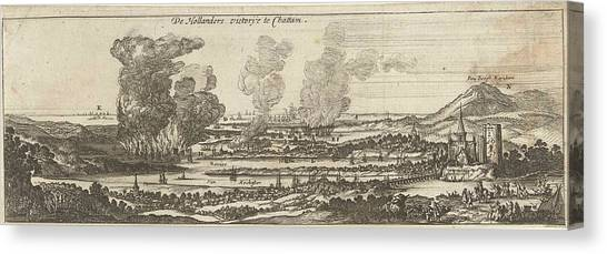 Chatham Canvas Print - The Trip To Chatham, 1667, Anonymous, Romeyn De Hooghe by Anonymous And Romeyn De Hooghe