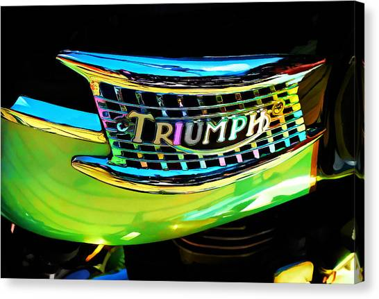 The Triumph Petrol Tank Canvas Print