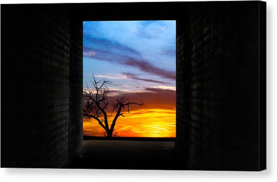 The Tunnel   Sunset1 Canvas Print