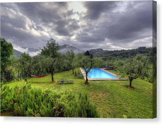 The Tuscan Villa Pool Canvas Print