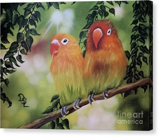 The Tweetest Love Canvas Print