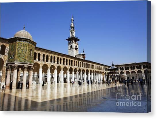 Syrian Canvas Print - The Umayyad Mosque Damascus Syria by Robert Preston