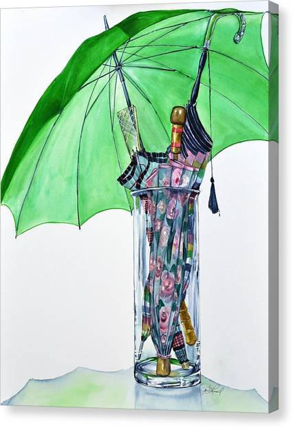 The Umbrella Plan Canvas Print by Jane Loveall