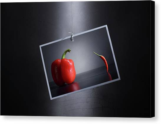 Pepper Canvas Print - The Unbalanced Composition/ An Improved Version. by Victoria Ivanova