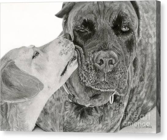 Yellow Lab Canvas Print - The Unconditional Love Of Dogs by Sarah Batalka