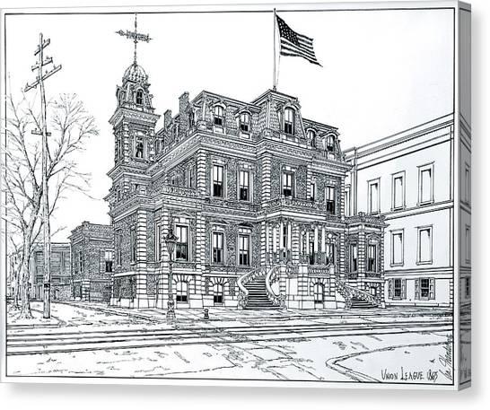 Philadelphia Union Canvas Print - The Union League Philadelphia 1867 by Ira Shander