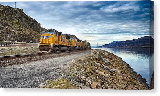 The Union Pacific Railroad Columbia River Gorge Oregon Canvas Print
