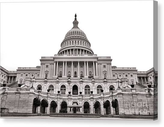 D.c. United Canvas Print - The United States Capitol  by Olivier Le Queinec