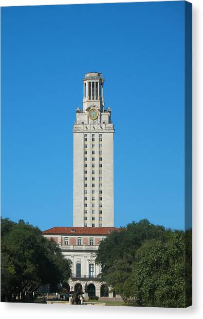The University Of Texas Canvas Print - The University Of Texas Tower by Connie Fox