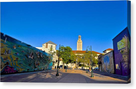 The University Of Texas Canvas Print - The University Of Texas Tower by Kristina Deane