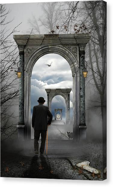 Portal Canvas Print - The Unknown by Leyla Emektar La_