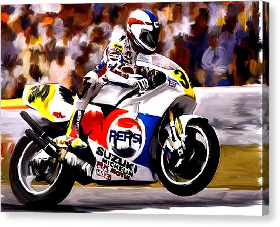 The Unleashing   Kevin Schwantz Canvas Print