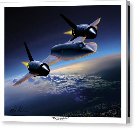 The Untouchable  Sr-71 Blackbird Canvas Print by Mark Karvon