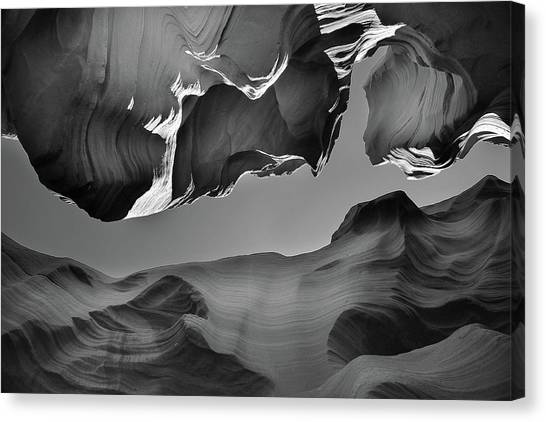 Canyon Canvas Print - The Upper Exit by Jure Kravanja