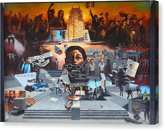 Kent State University Canvas Print - The Uprising Of University Students by Gonz Jove