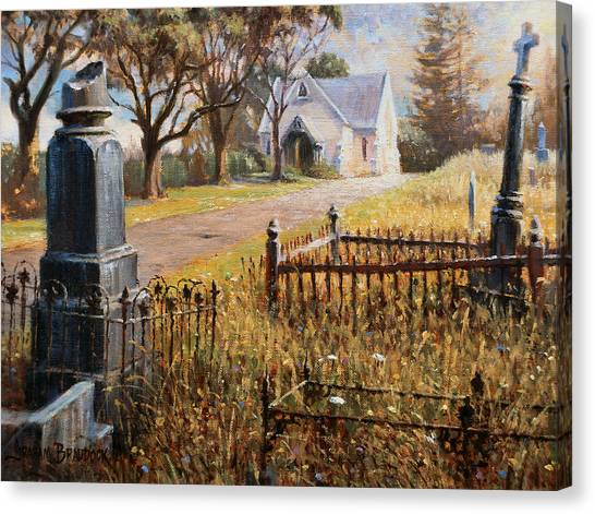 The Upward Path  Waikumete Cemetery  Auckland Canvas Print