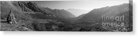 The Valley And The Rocks Canvas Print by Marco Affini