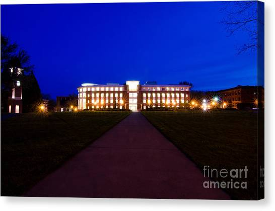 Oregon State University Osu Canvas Print - The Valley Library by Bennie Chatman